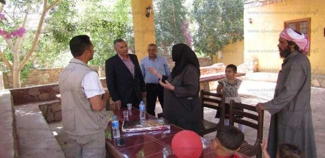 بالصور| رئيس مدينة أبورديس يتفقد الحالة الأمنية لدير السبع بنات