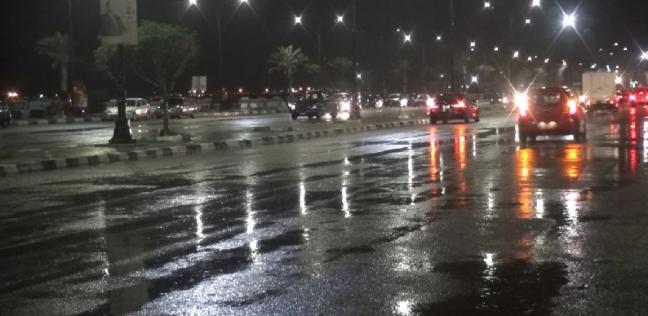 """أمطار غزيرة في السويس وإصابة 5 أشخاص على طريق """"العين السخنة"""""""