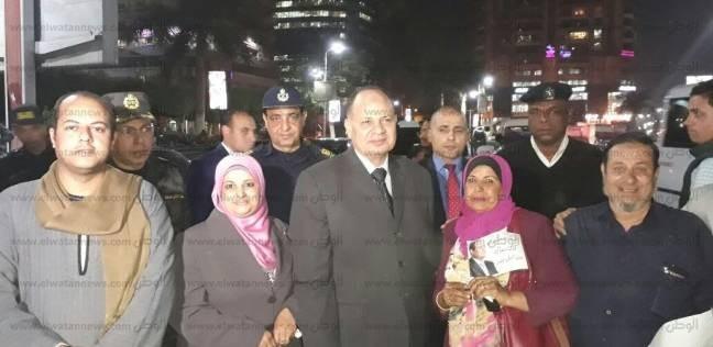 بالصور| مدير أمن الجيزة يتفقد الحالة الأمنية بشوارع المحافظة