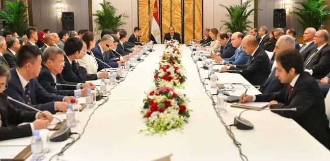 بالصور| تفاصيل لقاء السيسي مع كبرى الشركات الصينية