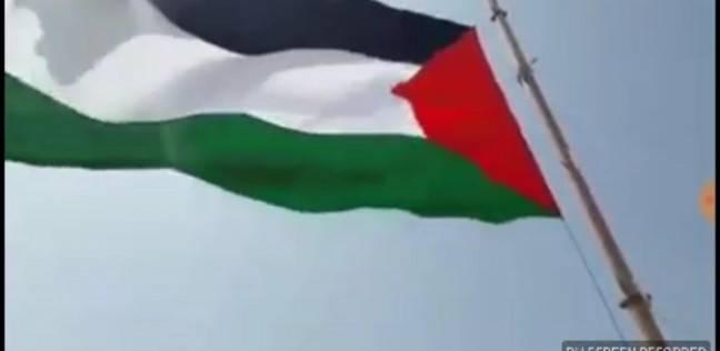 بالصور| أطول سارية بـ25 مترا.. تفاصيل رفع علم فلسطين بمخيمات العودة الكبرى
