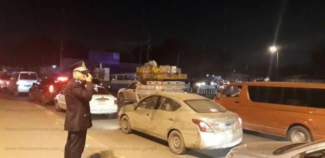 """""""العامة للمرور"""" تعلن وقف حركة السيارات على طريق إسكندرية الصحراوي"""