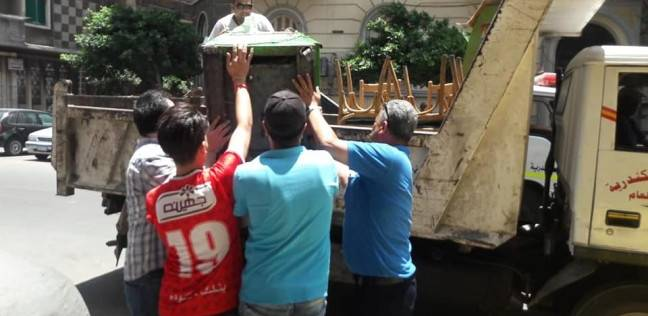 """رفع تعديات الطريق العام من """"محطة الرمل"""" وسط الإسكندرية"""