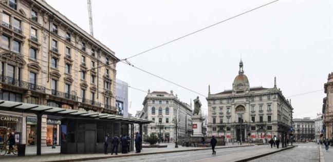 شوارع إيطاليا خاوية بسبب فيروس كورونا