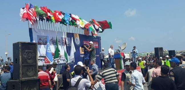 """انطلاق أول رحلة بحرية من ميناء غزة بهدف """"كسر الحصار"""" الإسرائيلي"""