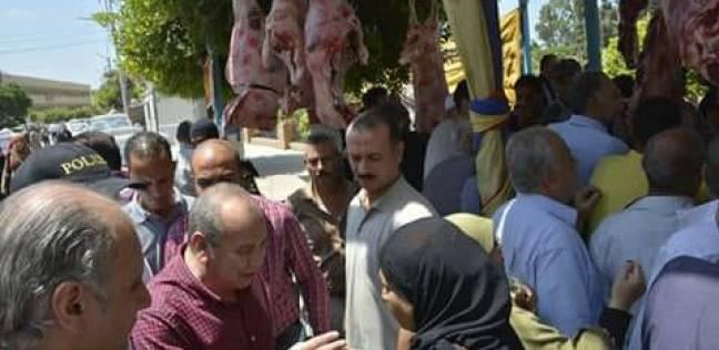 بالصور| بيع اللحوم البلدية بسعر 98 جنيها للكيلو بمنافذ البيع في دمياط