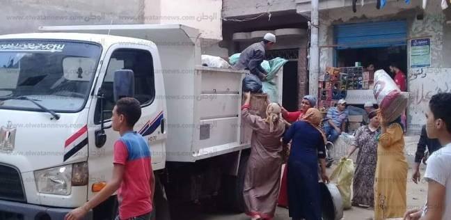 رفع 8 أطنان قمامة في حملة نظافة بدمنهور