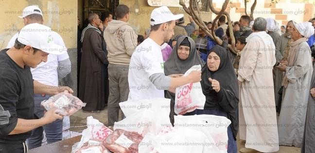توزيع 56 طن لحوم على الأكثر احتياجا في أسوان