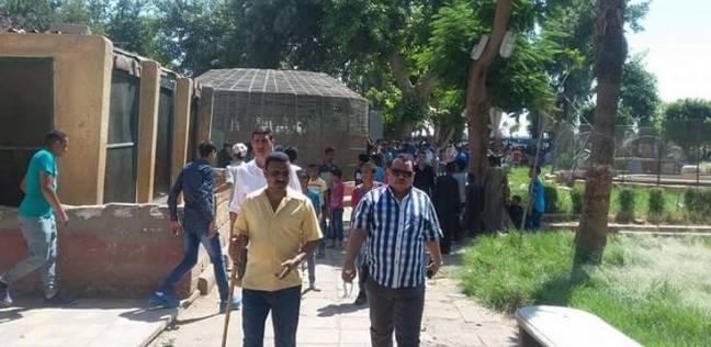 رئيس مركز أبو تيج يتفقد حديقة حيوان ناصر في أول أيام عيد الفطر بأسيوط