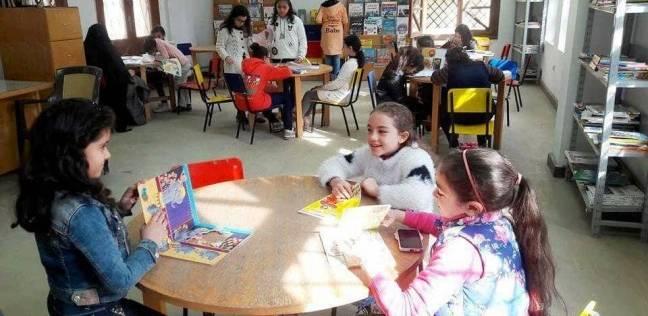 """قراءة حرة للأطفال بمكتبة """"طوبار"""" واحتفالات بمئوية """"ناصر"""" في الدقهلية"""