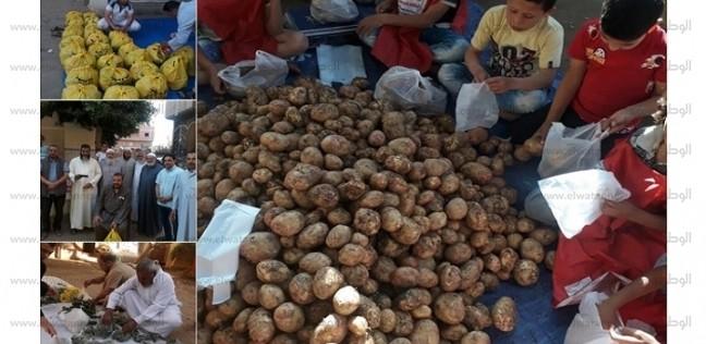 توزيع مواد غذائية.. جزيرة أبو عمرو بالشرقية تطلق مبادرة لإطعام البسطاء