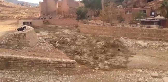 أسرة أردنية منكوبة جرفتها السيول فى الأردن