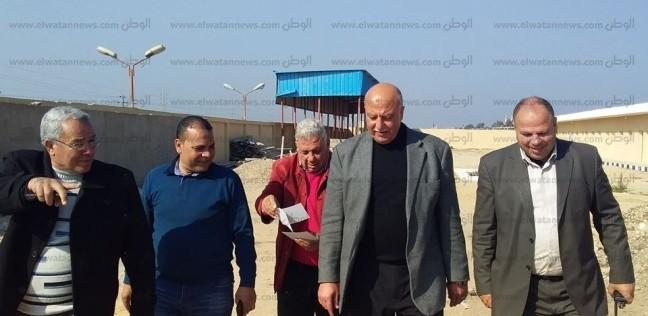 بالصور| سكرتير عام المحافظ يتفقد مشروعات مدينة كفر الشيخ