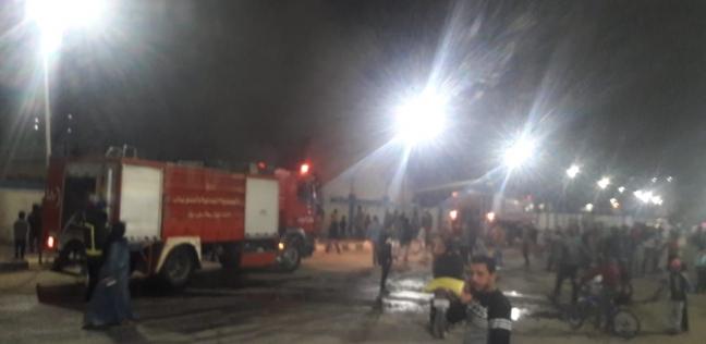 الحماية المدنية تسيطر على حريق بمصنع لإعادة تدوير الكرتون في الفيوم