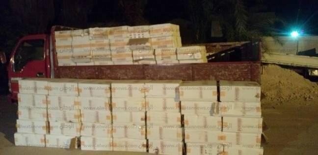 ضبط شخص على طريق العلمين بحيازته 1500 علبة سجائر مهربة من ليبيا