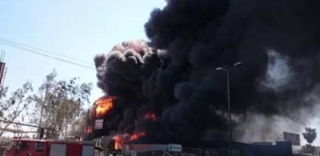 انتداب المعمل الجنائي لفحص حريق محطة بنزين في طوخ بالقليوبية