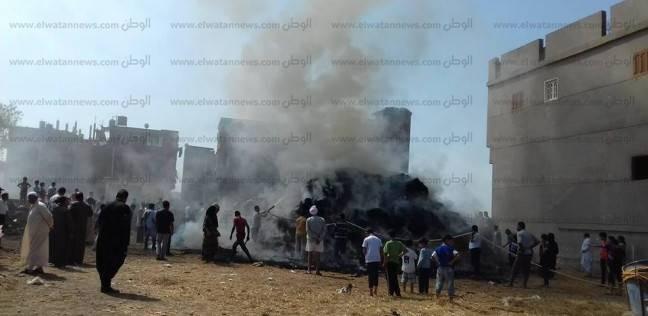 """الحماية المدينة بالدقهلية تسيطر على حريق في قش أرز في """"برمبال القديمة"""""""