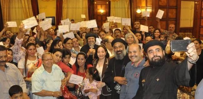 الأنبا مرقس يوزع شهادات التخرج لدارسي محو الأمية في شبرا الخيمة