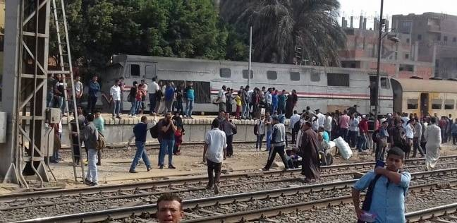 المعاينة الأولية لقطار قليوب: لم يسفر الحادث عن أي إصابات أو ضحايا