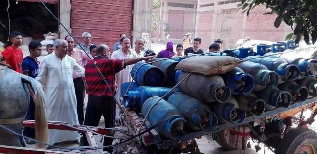 توزيع 500 أسطوانة بوتاجاز علي المناطق المحرومة بالدقهلية