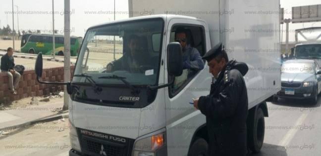 ضبط 59 سيارة نقل ثقيل مخالفة في القاهرة خلال 24 ساعة