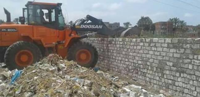 تنفيذ 4 قرارات إزالة على الأراضي الزراعية وأملاك الدولة في كفر الشيخ