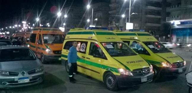 إصابة 11 رجل شرطة في حادث انقلاب سيارة ببني سويف