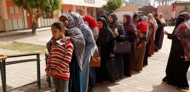 إقبال كثيف من الشباب وكبار السن على لجان الاقتراع بدائرة المقطم