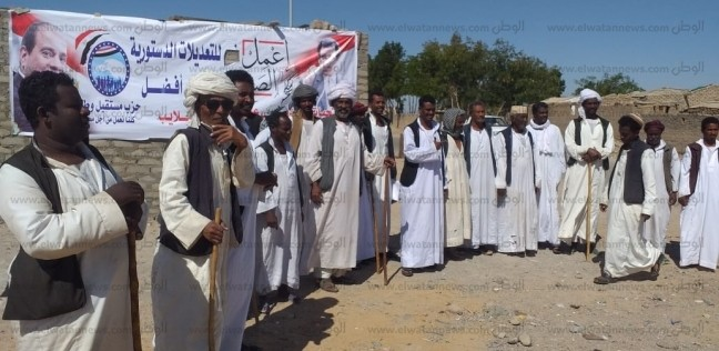 توافد أعداد كبيرة من أهالي حلايب وشلاتين للاستفتاء على تعديلات الدستور