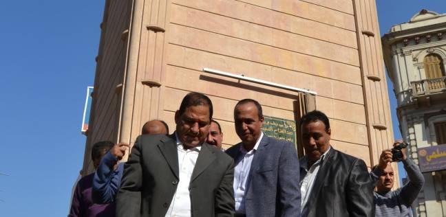 بالصور| محافظ الغربية ومدير الأمن يتفقدان تطوير ميدان الساعة بطنطا