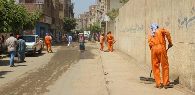 أسبوع للنظافة والتجميل في شوارع وقري مركز مطاي بالمنيا