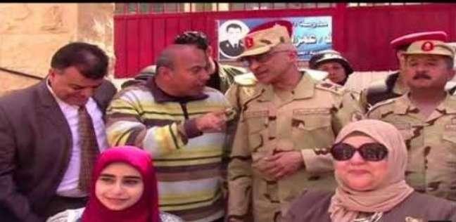 بالفيديو| قائد الجيش الثاني يتفقد لجان شمال سيناء