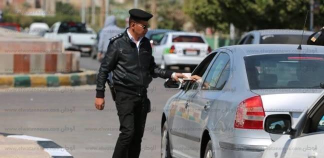 تحرير 733 مخالفة مرورية وفحص 9 سيارات مهملة خلال حملة بالمنوفية