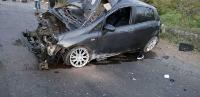 """إصابة 8 أشخاص في تصادم سيارتين بطريق """"السويس - العين السخنة"""""""