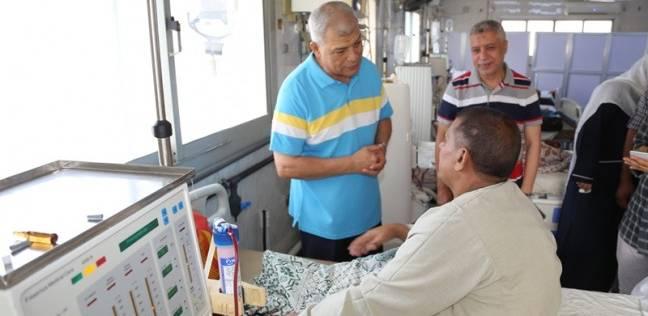 بالصور| محافظ المنوفية في جولة تفقدية لمستشفى شبين الكوم التعليمي
