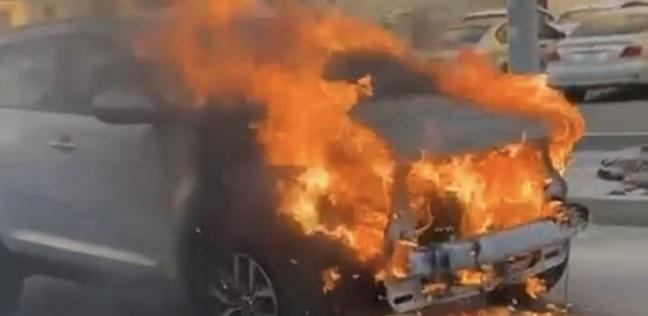 السيارة بعد انفجارها