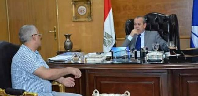 """محافظ دمياط يلتقي ممثلي """"بلاعيم"""" لبحث مد خطوط الغاز حتى محافظة بورسعيد"""