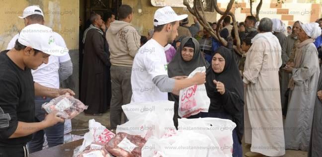 بالصور  أورمان كفر الشيخ توزع 50 ألف كيلو لحوم على الأسر المحتاجة