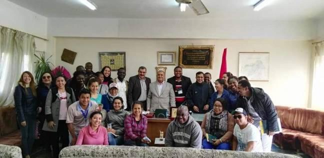 بالصور| وفد أجنبي متعدد الجنسيات يزور مديرية الزراعة في دمياط