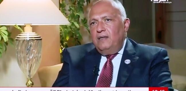 سامح شكري: نعمل ما نراه مناسبا لحل القضية الفلسطينية
