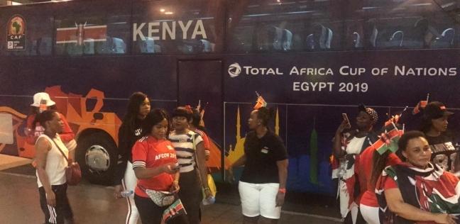 وصول بعثة منتخب كينيا إلى مطار القاهرة الدولي للمشاركة في أمم أفريقيا