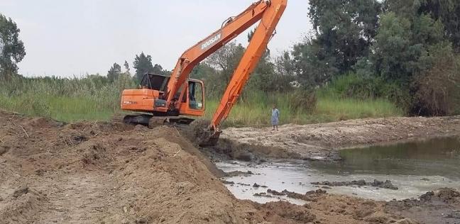 إزالة أعمال ردم بنهر النيل في المنوفية