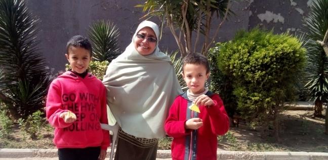 عبير عبد الجليل المسئول الفني بمركز التعليم في المتحف المصري