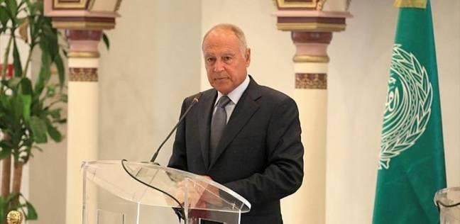 """""""أبو الغيط"""" يؤكد لـ""""عباس"""" دعم الجامعة العربية للموقف الفلسطيني"""