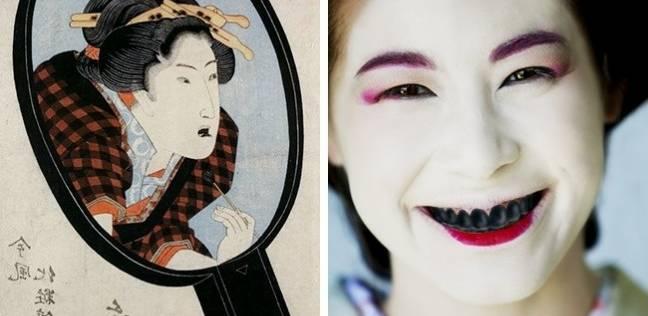 بالصور| أغرب علامات الجمال في الماضي.. «أسنان سوداء ونتف الرموش»