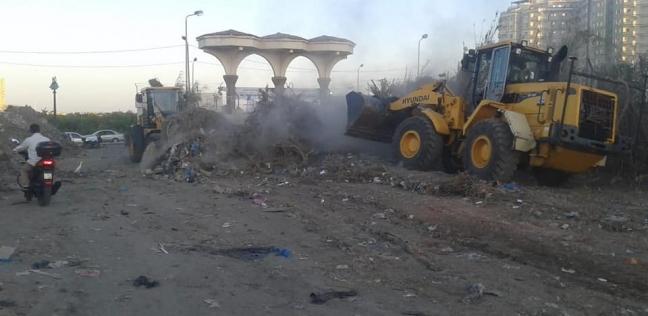 رفع 30 طن مخلفات بجوار كلية الدراسات الإسلامية شرق الإسكندرية
