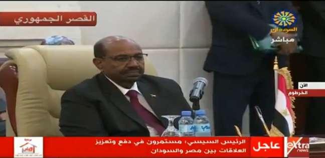 عمر البشير: قدمنا تطلعات الشعبين المصري والسوداني على أي شيء آخر