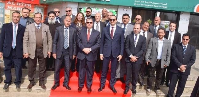 """محافظ بني سويف يفتتح فرعا لبنك تنمية الصادرات: """"فاتحة خير"""""""