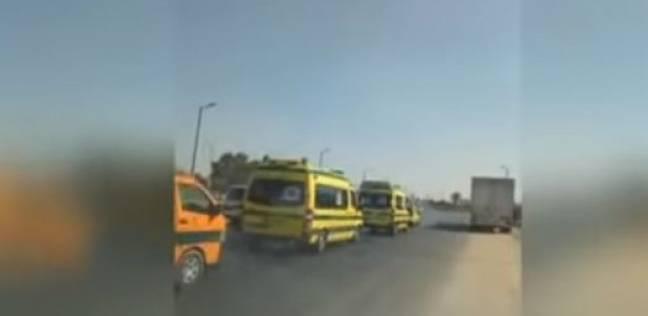 القرموطي يعرض فيديو لموكب سيارات إسعاف لتشييع جثمان الشهيد أحمد جمال