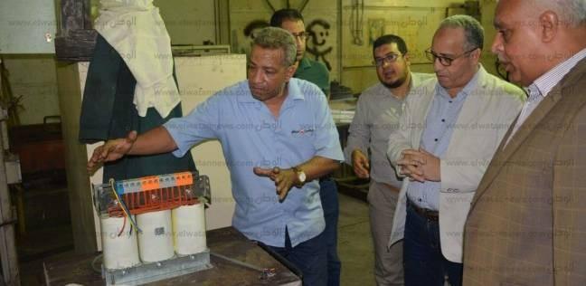 رئيس المترو والعضو المنتدب يتفقدان ورشة صيانة القطارات بالخط الثاني